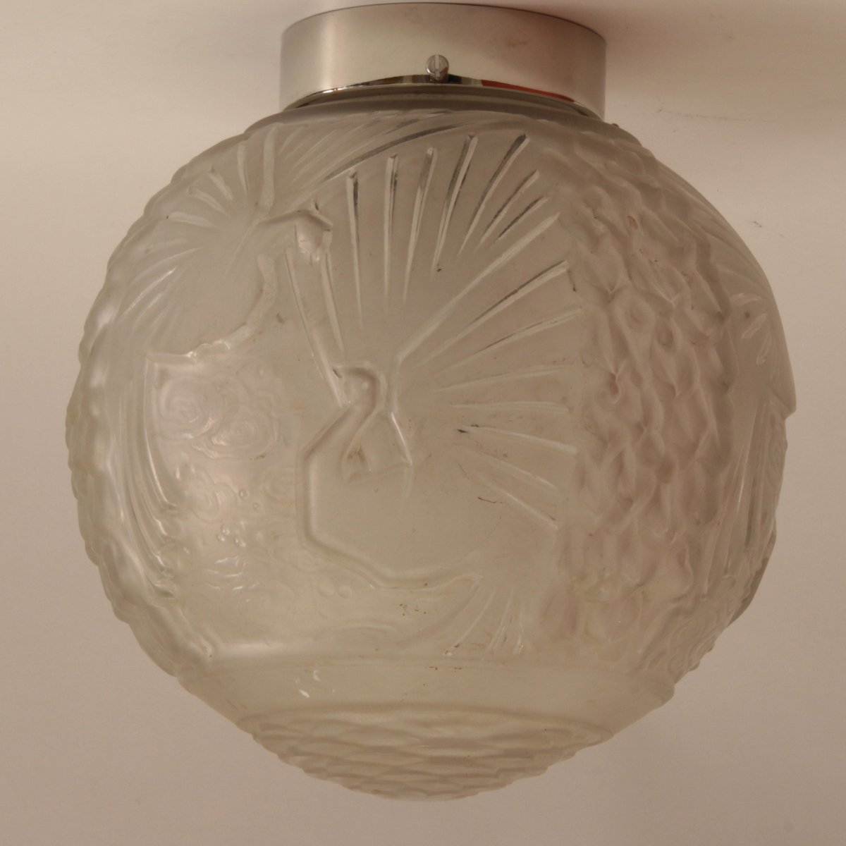 Large French Art Deco Ceiling Light from Muller Frères, 1920s for ...