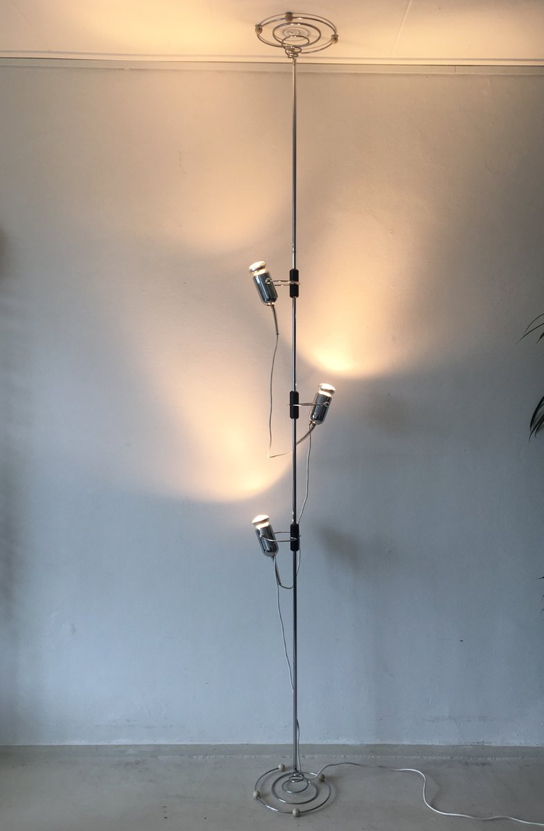 Tension Floor To Ceiling Lamp By Francesco Fois For Reggiani 1950s