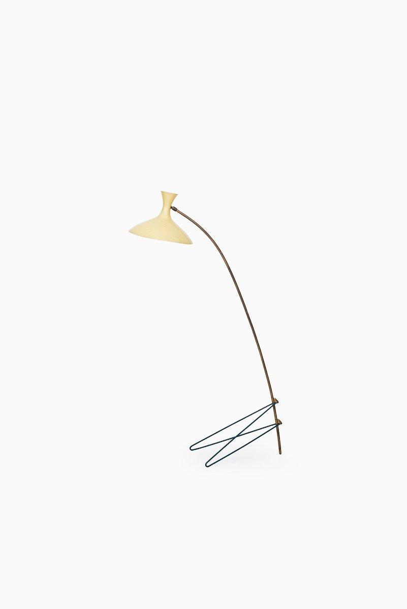 Gelbe Stehlampe von Louis Kalff für Philips