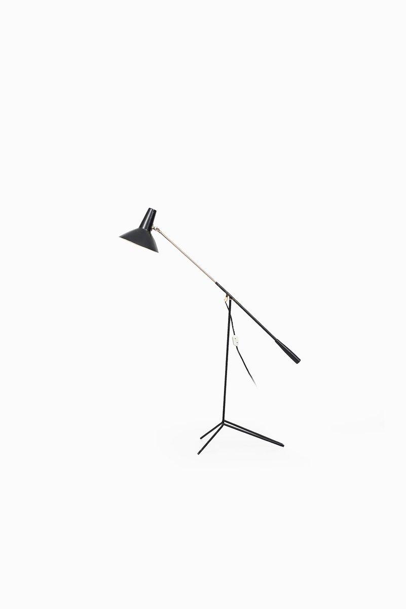 Stehlampe aus Schwarzem Metall von ASEA, 1950er