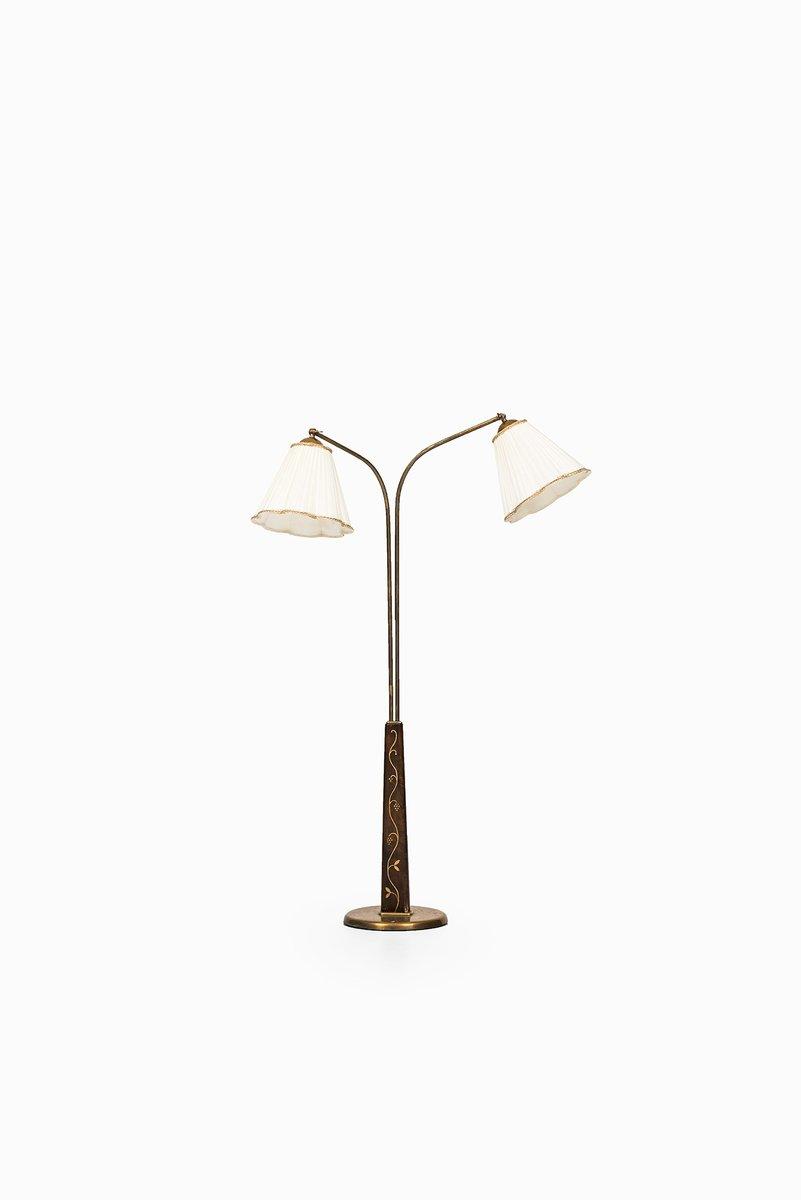Schwedische Stehlampe mit Zwei Leuchten