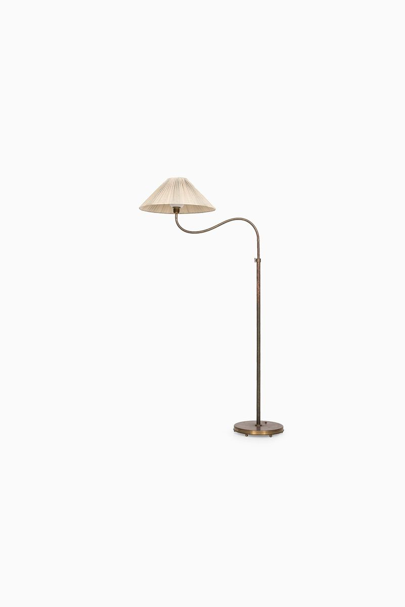 Hohe Verstellbare Vintage Stehlampe von ASEA