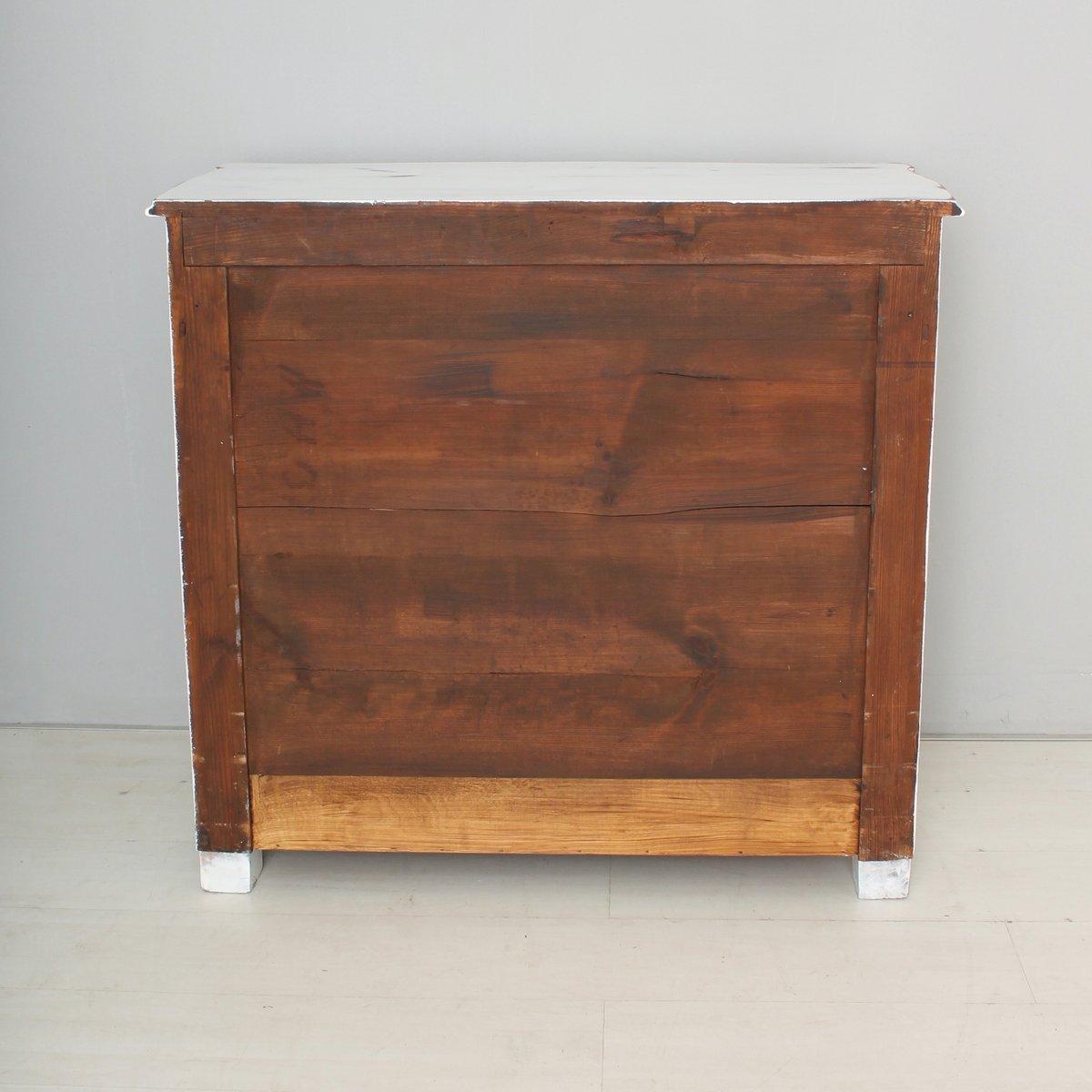 antike wei e holz kommode 1880er bei pamono kaufen. Black Bedroom Furniture Sets. Home Design Ideas