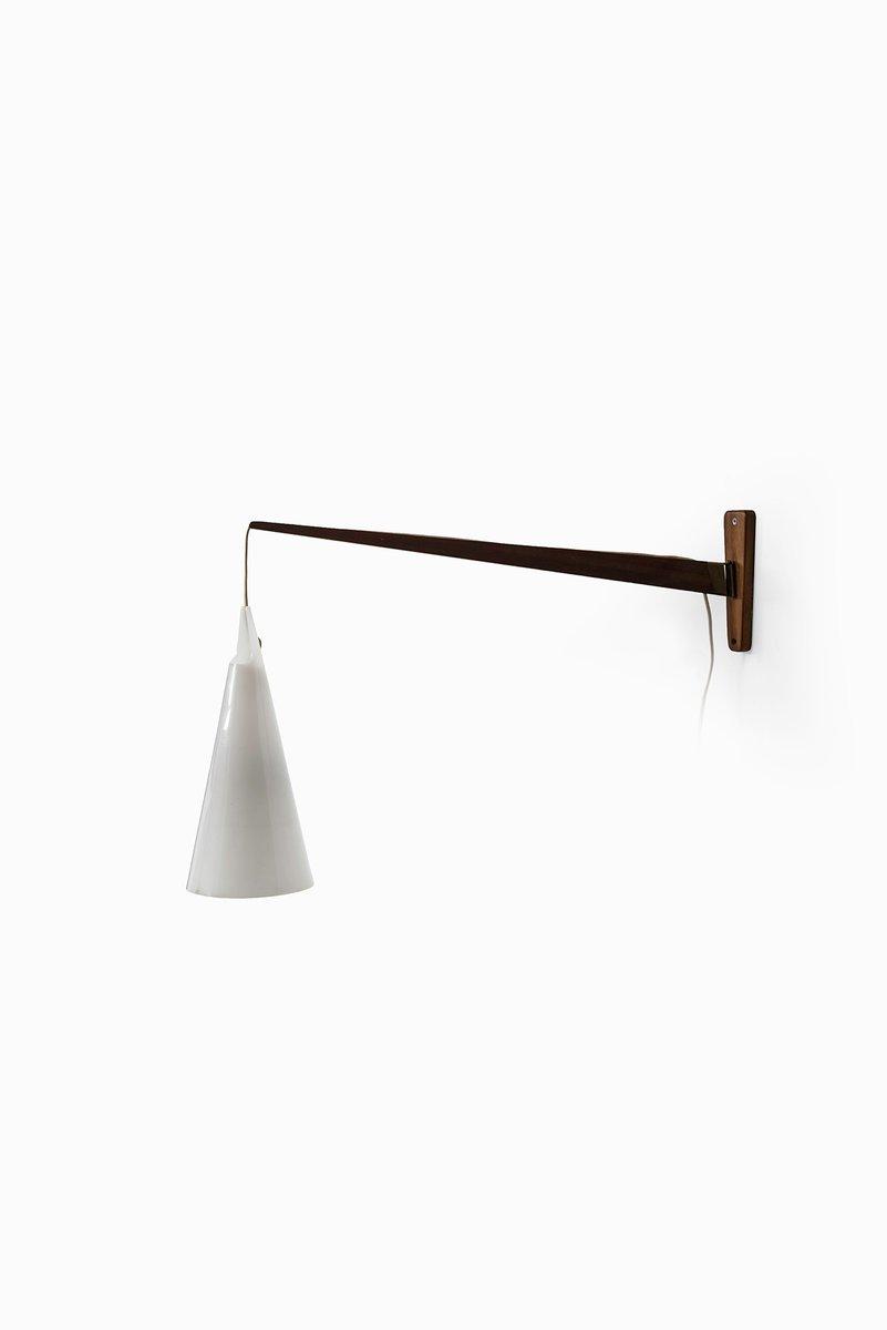 Schwedische Mid-Century Struten Wandlampe von Hans Bergström
