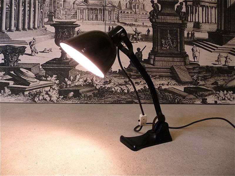 Industrielle Werkstätten Tischlampe von ALY, 1920er