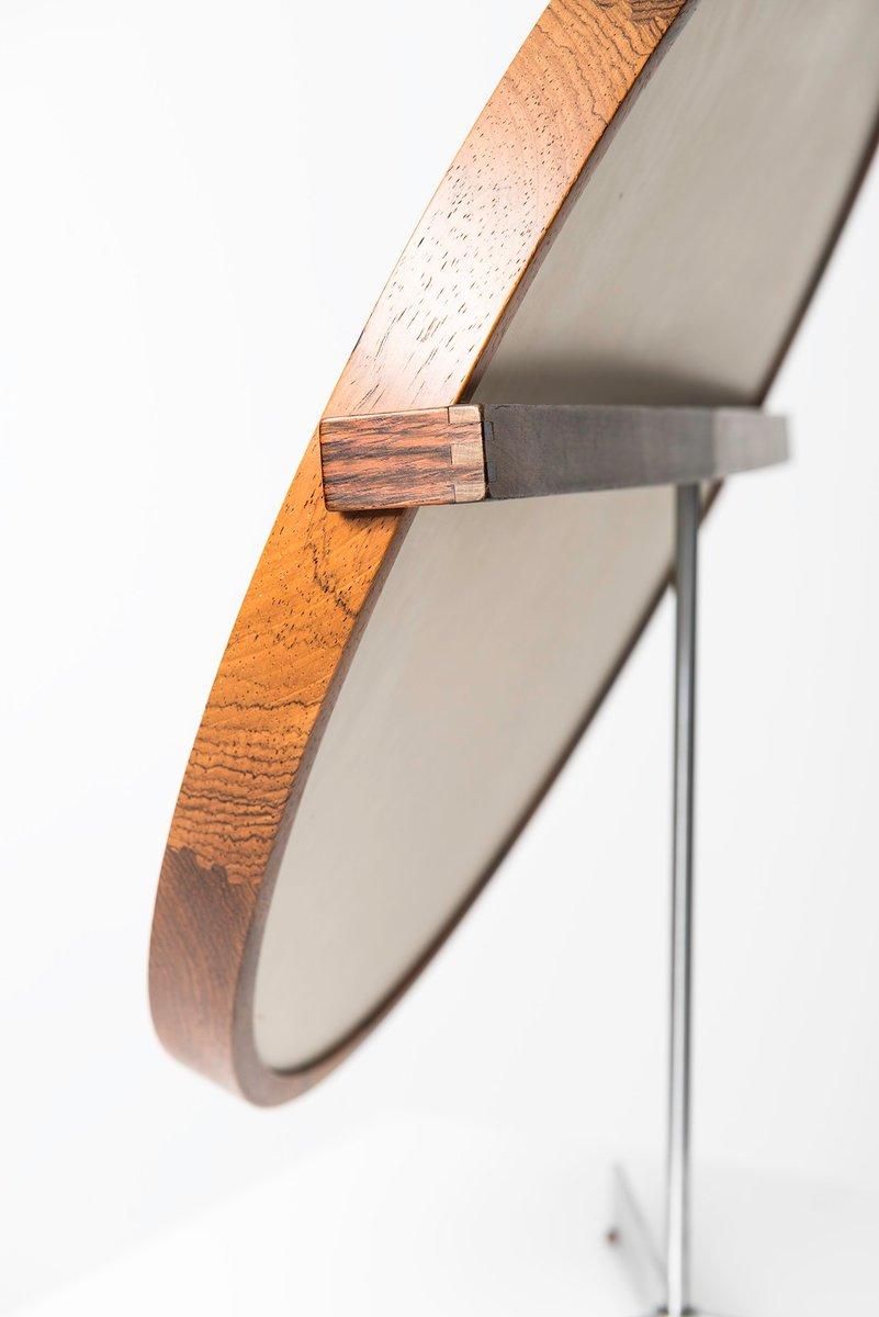 Specchio da tavolo rotondo di uno sten kristiansson per luxus anni 39 60 in vendita su pamono - Specchio da tavolo ...