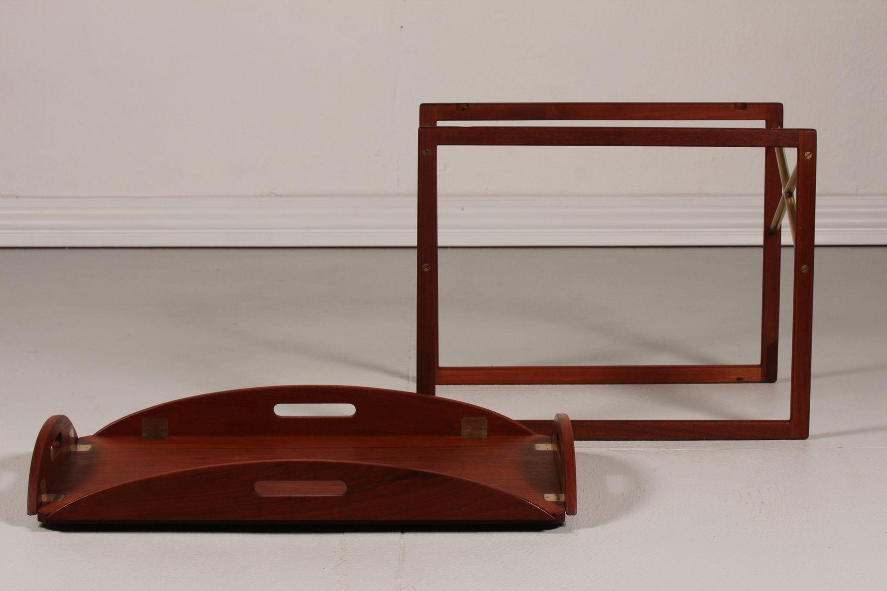 teak couchtisch mit tablett von svend langkilde f r illums bolighus 1960er bei pamono kaufen. Black Bedroom Furniture Sets. Home Design Ideas