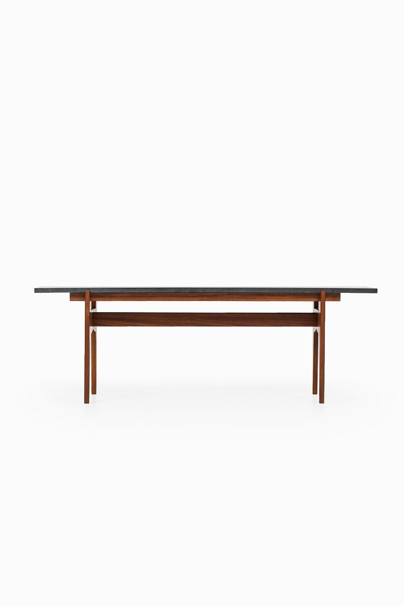 Teak And Black Granite Coffee Table By Hans Agne Jakobsson