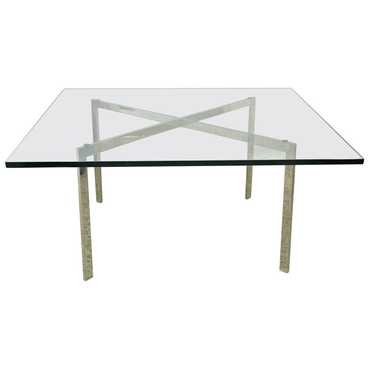 Barcelona Tisch von Mies Van der Rohe für Knoll, 1960er