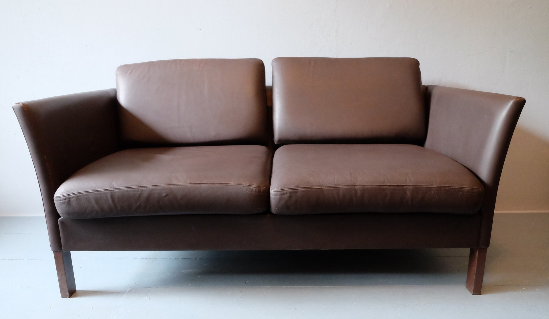 Danish Leather Two Seater Sofa 1970s For Sale At Pamono