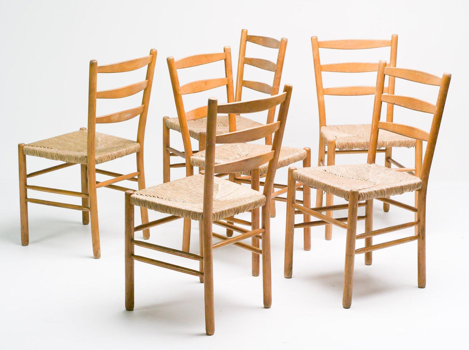 Swedish Oregon Pine Dining Chairs, Set Of 8