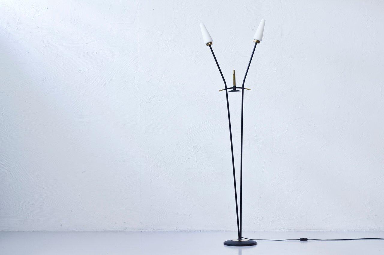 Stehlampe mit Doppelleuchten von Maison Arlus, 1950er