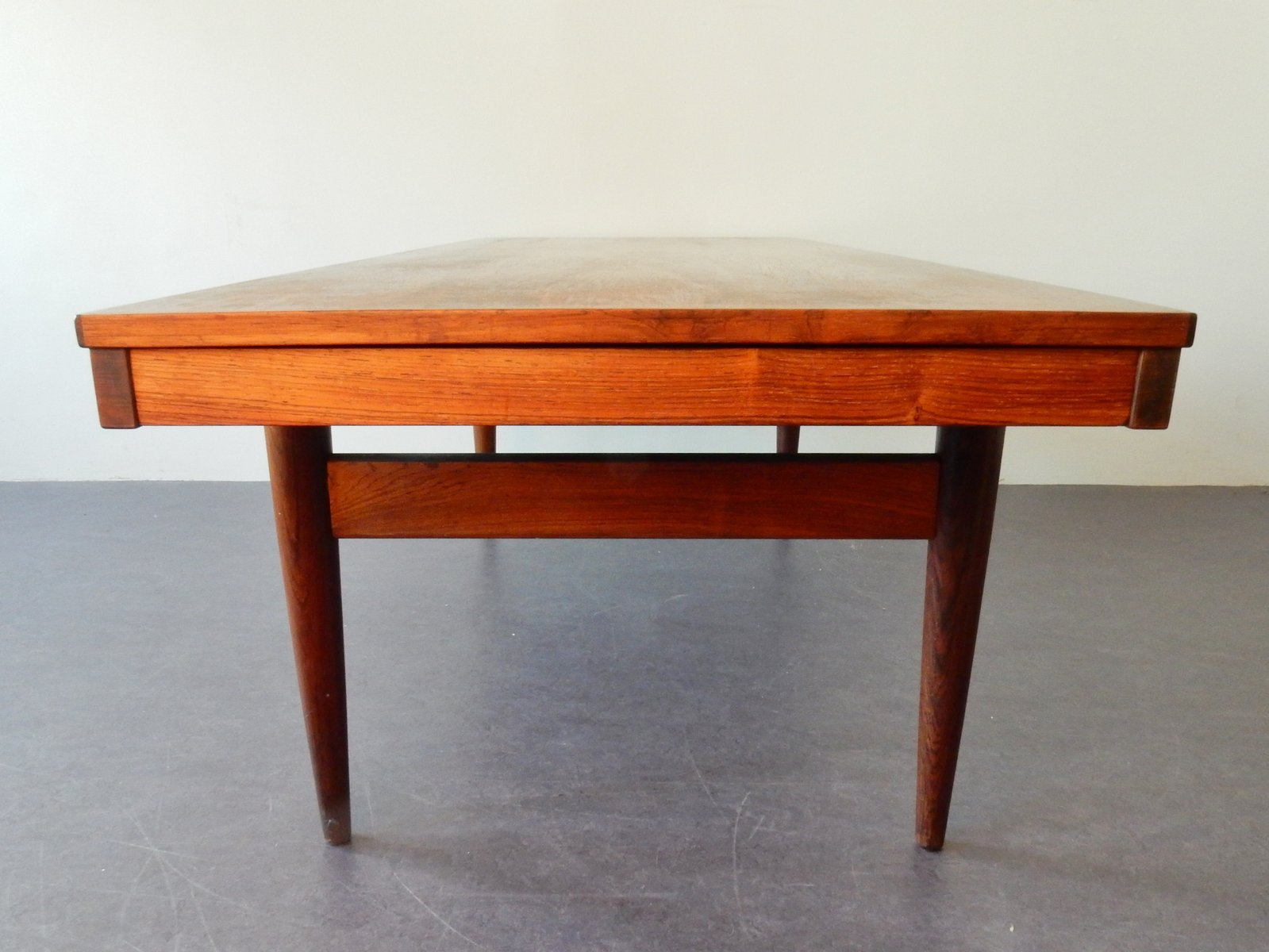 extendable danish rosewood coffee table for sale at pamono. Black Bedroom Furniture Sets. Home Design Ideas