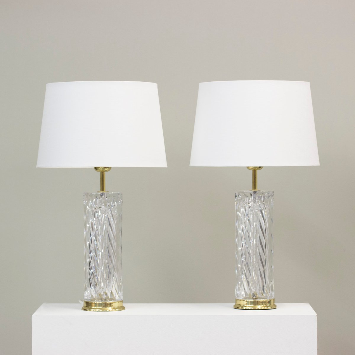 Crystal Chandelier Table Lamps For Sale: Crystal Table Lamps By Olle Alberius For Orrefors, 1970s