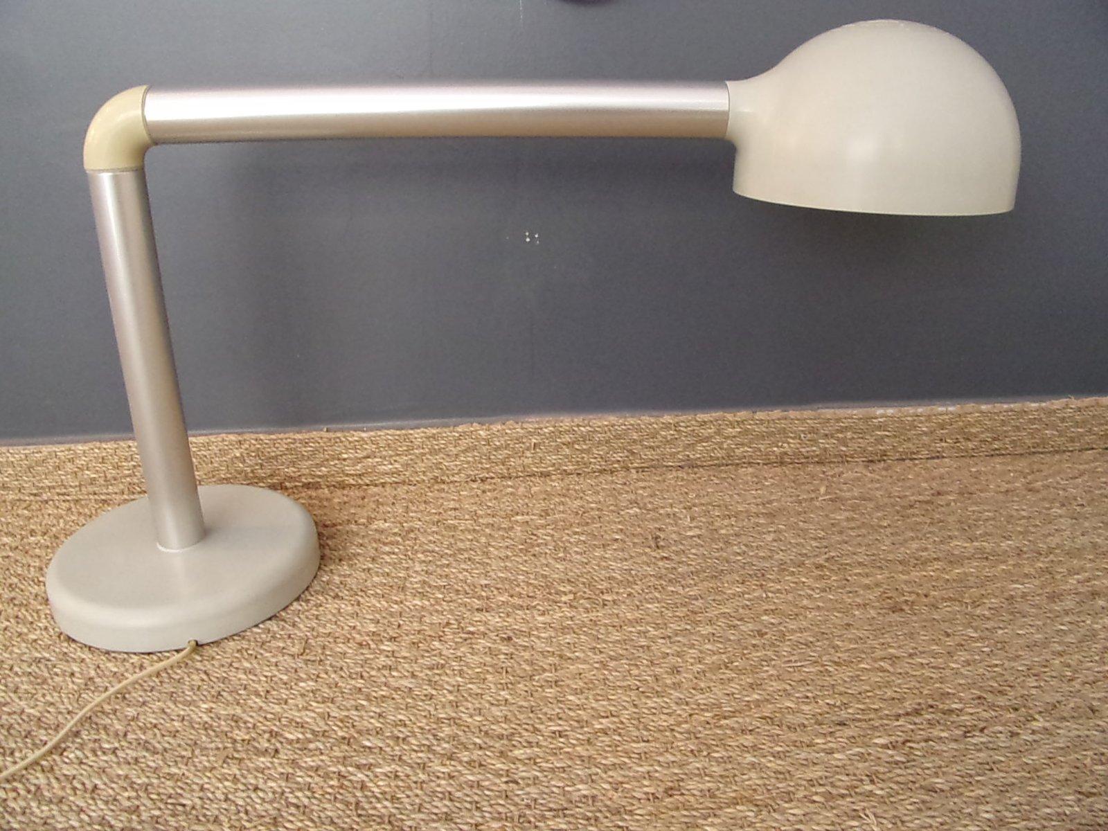 Graue Schweizer Schreibtischlampe von Robert Haussmann für Swisslamps ...