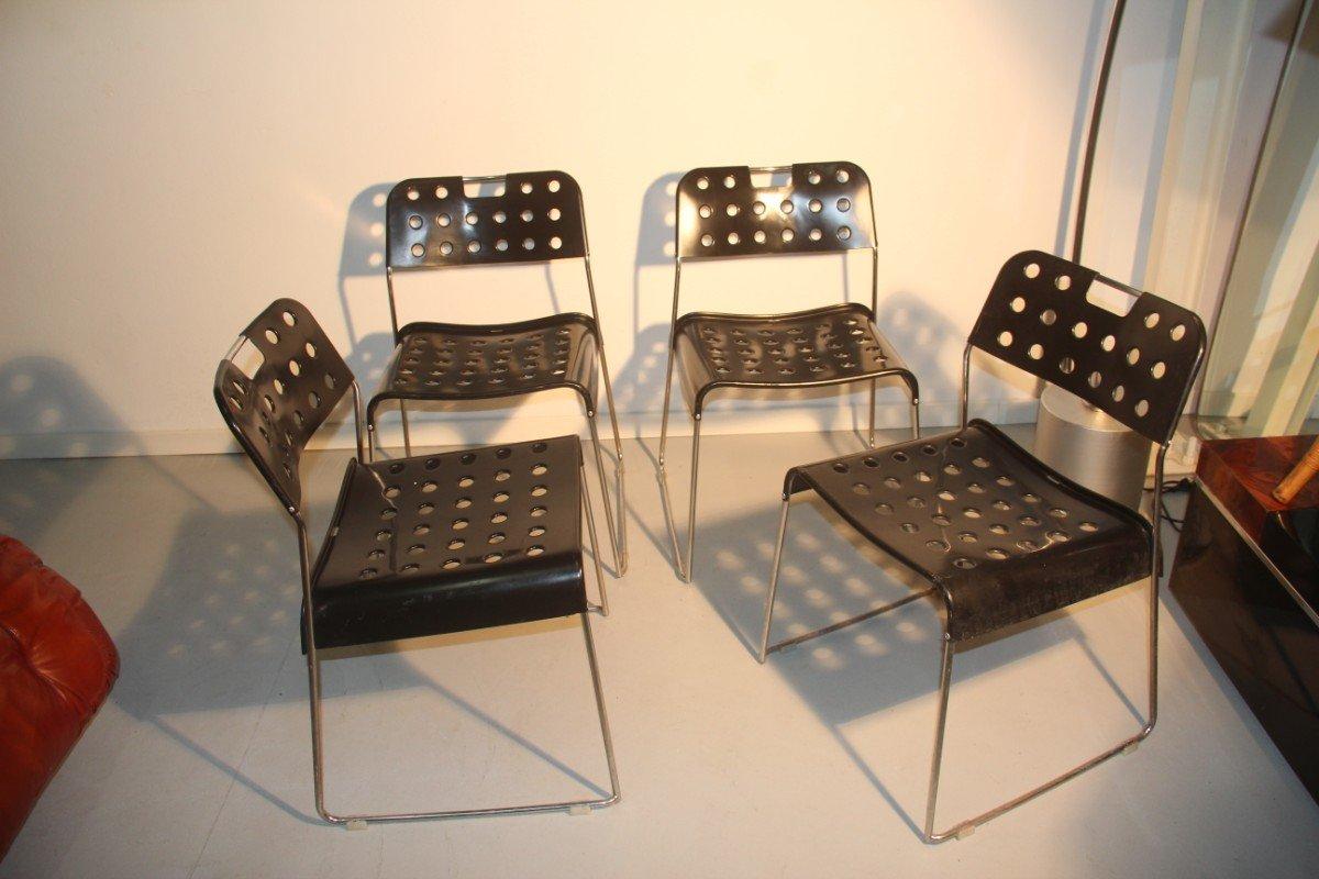 schwarze st hle von rodney kinsman f r bieffeplast 4er set bei pamono kaufen. Black Bedroom Furniture Sets. Home Design Ideas