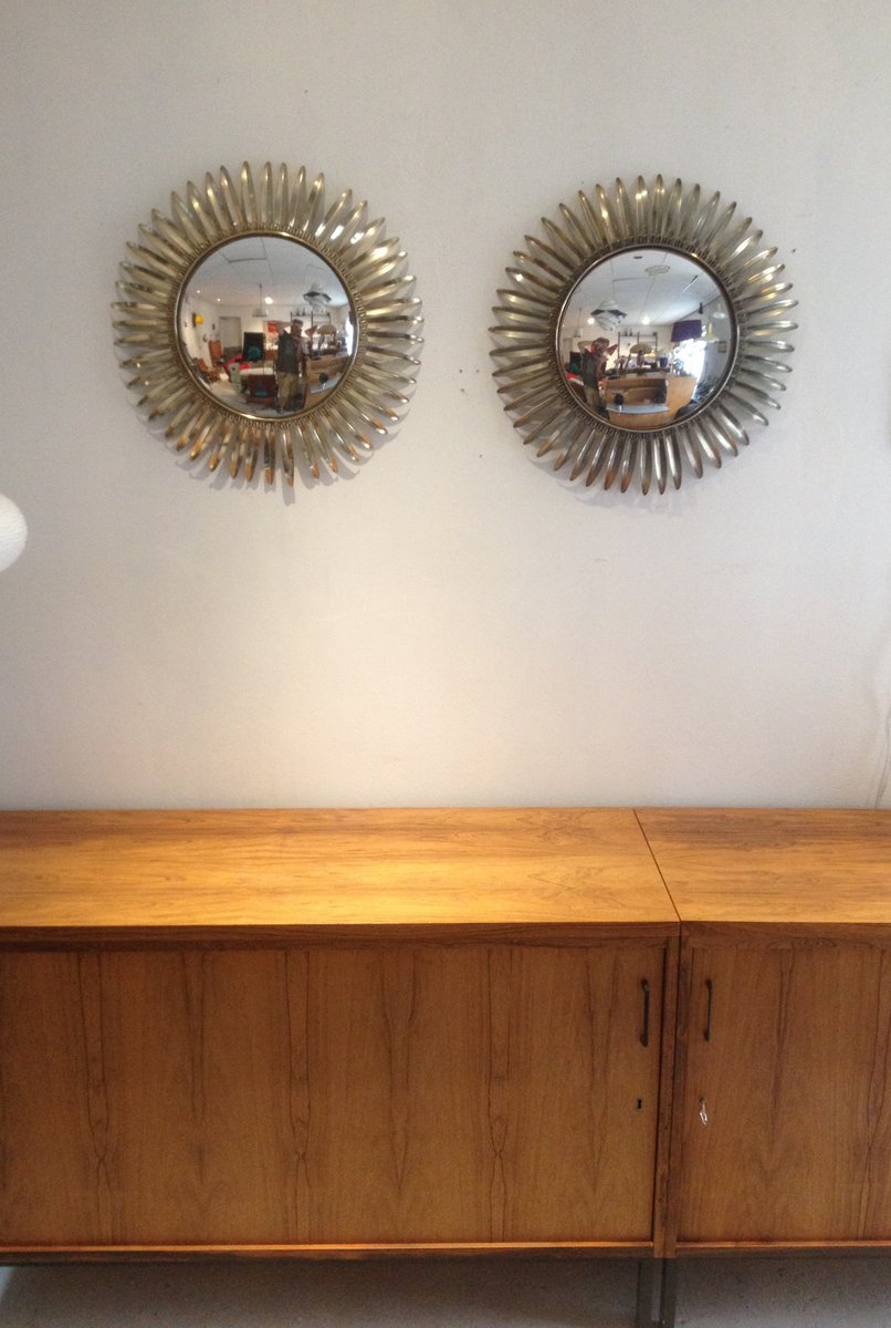 Espejos en forma de sol Hollywood de latn Juego de 2 en venta en