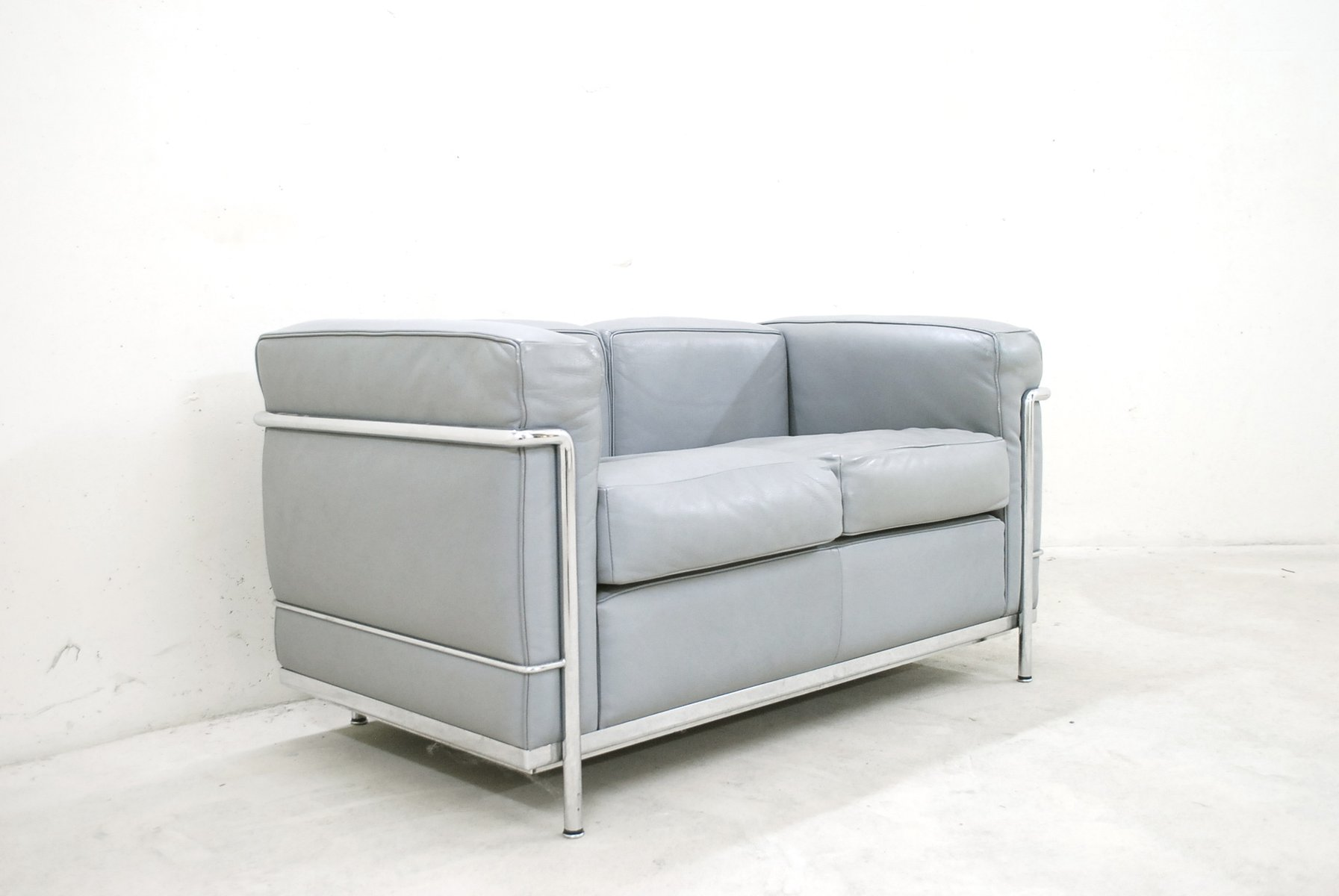 Model Lc2 Leather Sofa By Le Corbusier For Cina 1985