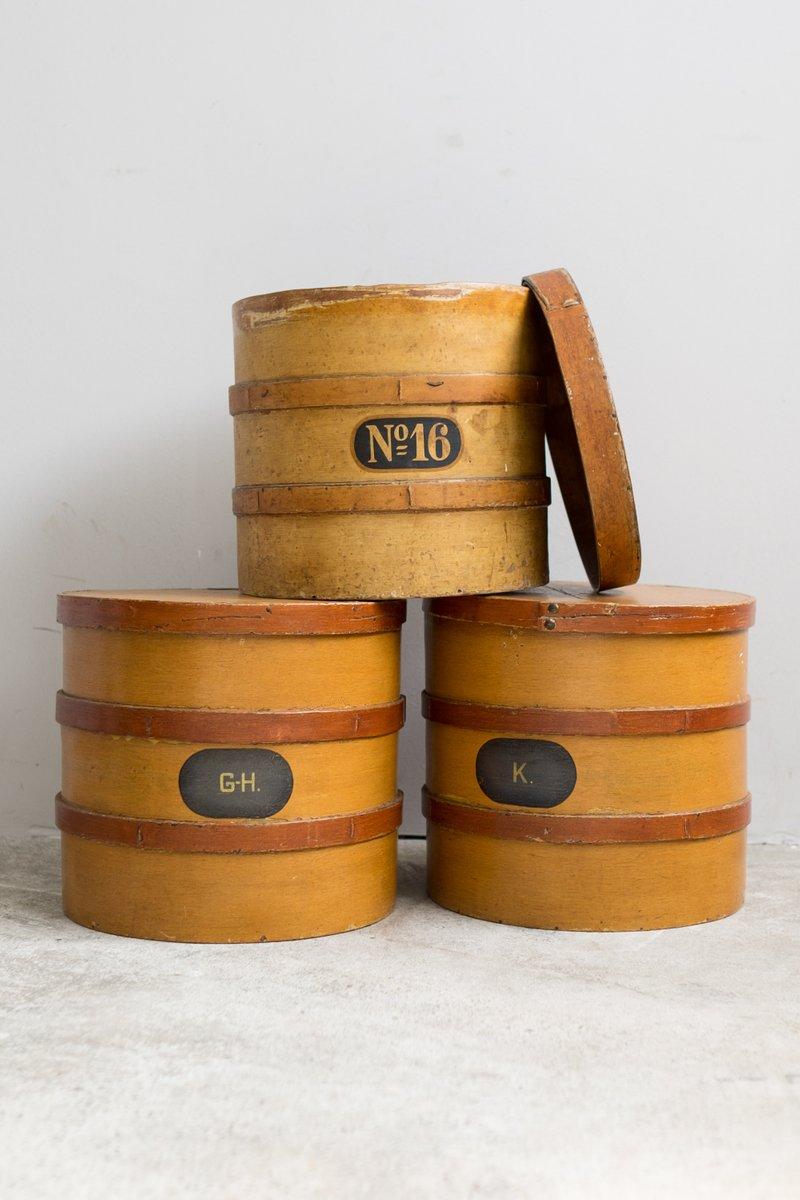 bo tes pharmacie antiques en bois set de 3 en vente sur pamono. Black Bedroom Furniture Sets. Home Design Ideas