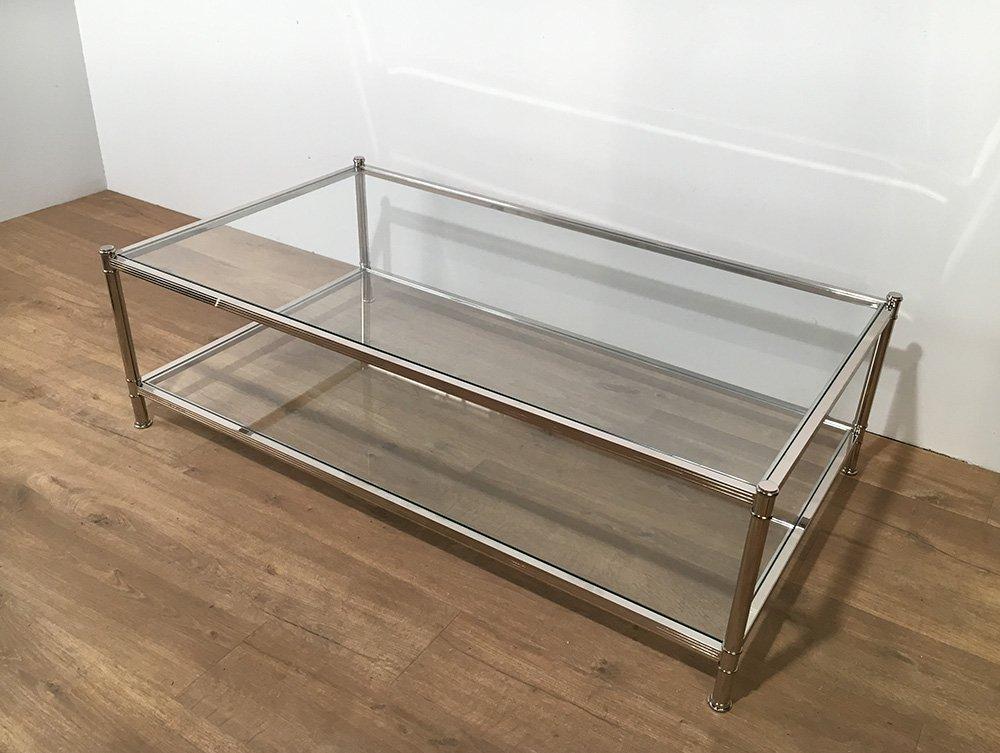 gro er chrom couchtisch von roche bobois 1970er bei pamono kaufen. Black Bedroom Furniture Sets. Home Design Ideas
