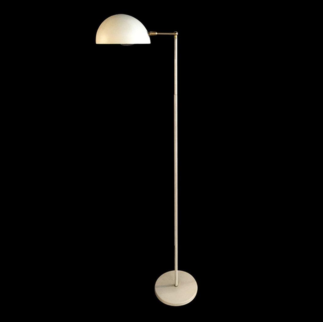 Weiße Vintage Stehlampe