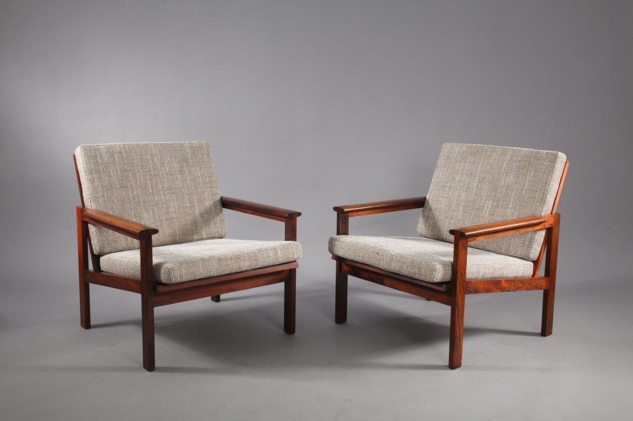 Nr. 4 Palisander Sessel von Illum Wikkelsø für Niels Eilersen, 1960, 2...