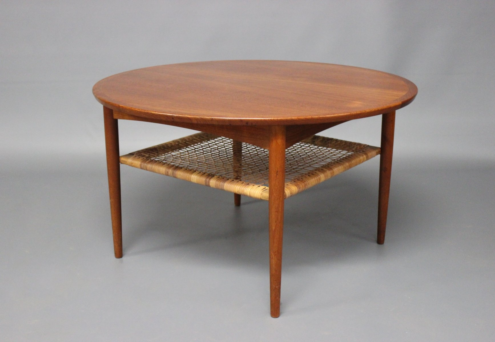 teakholz couchtisch mit ablage von m belintarsia 1960er bei pamono kaufen. Black Bedroom Furniture Sets. Home Design Ideas