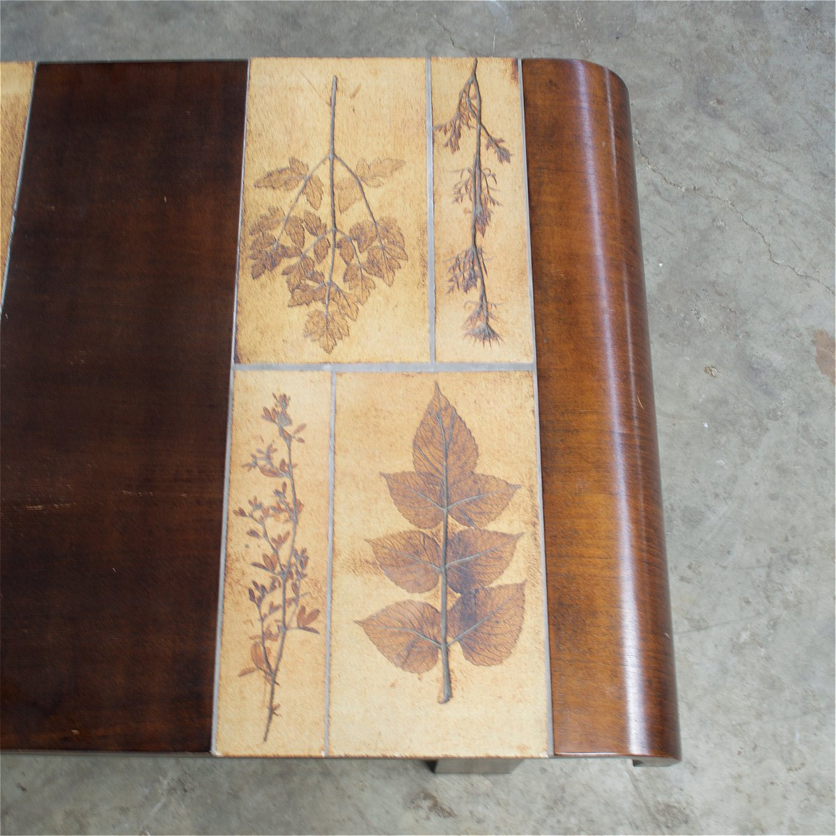 Teak Coffee Table South Africa: Ceramic & Teak Coffee Table By Roger Capron, 1950s For