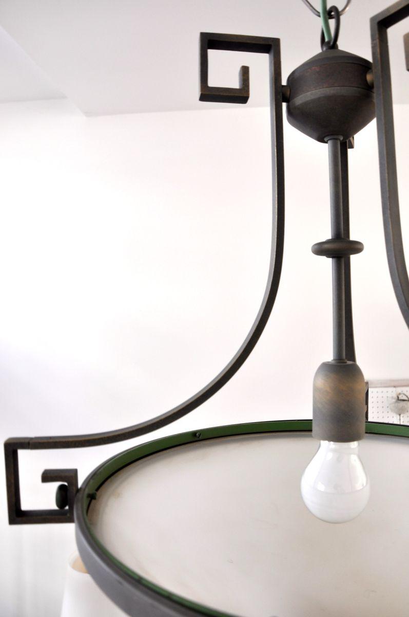 lampe suspension art d co en laiton et en verre opalin suisse 1930s en vente sur pamono. Black Bedroom Furniture Sets. Home Design Ideas