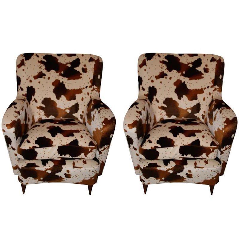 Französische Vintage Sessel, 1960er, 2er Set