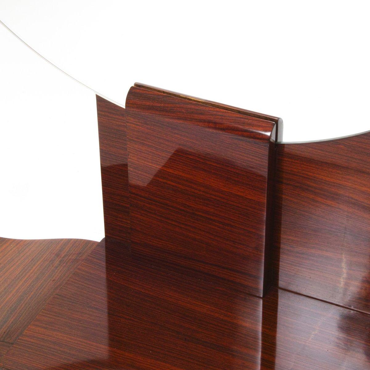 runder art deco spiegel mit ablage bei pamono kaufen. Black Bedroom Furniture Sets. Home Design Ideas