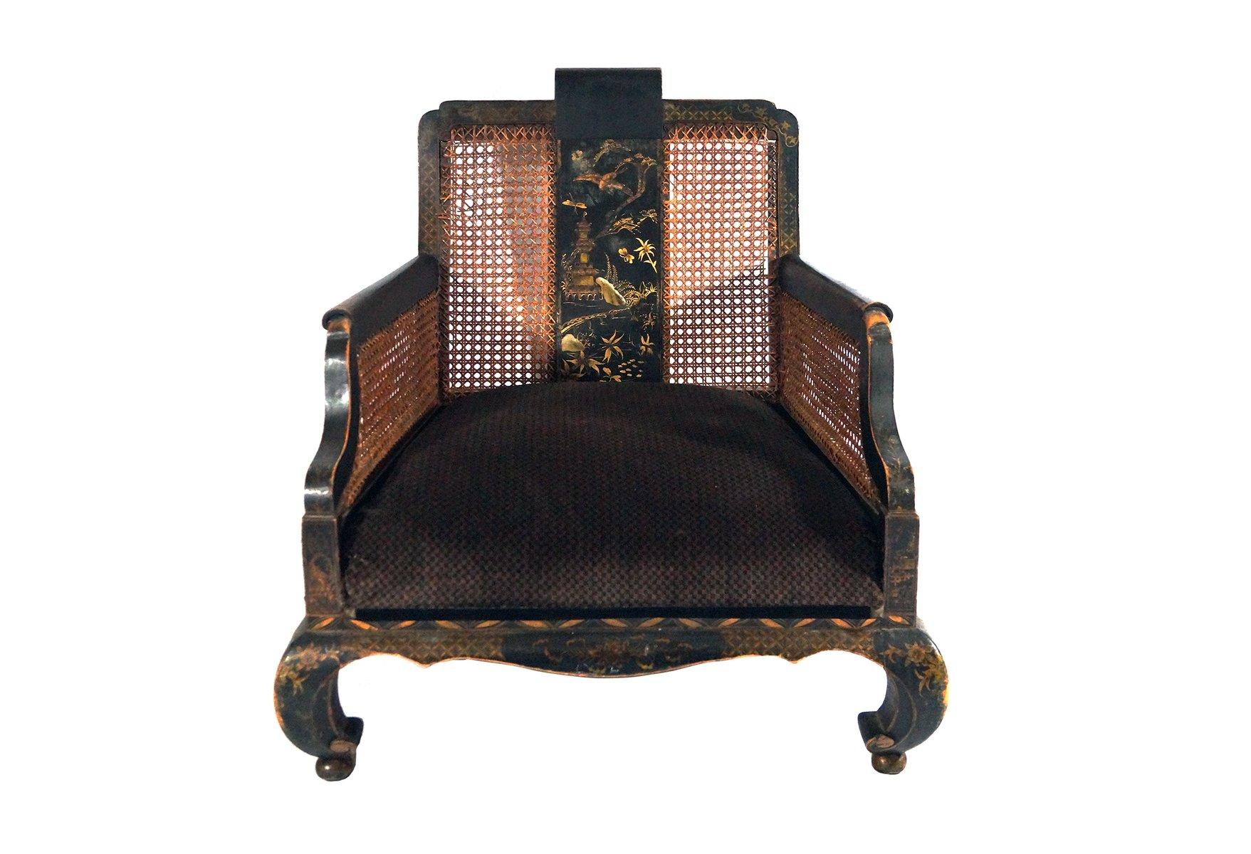 Antiker Handbemalter Chinesischer Sessel