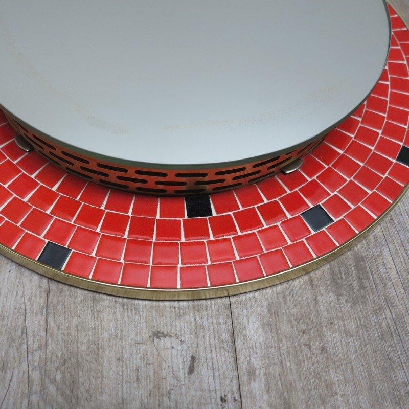 deutscher beleuchteter mosaik spiegel 1950er bei pamono kaufen. Black Bedroom Furniture Sets. Home Design Ideas