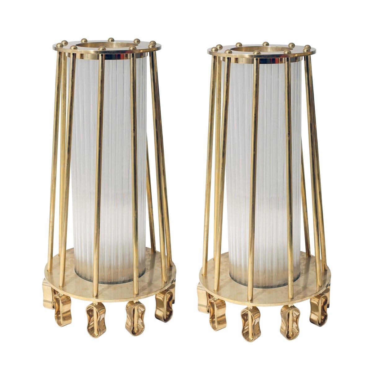 Tubuläre Stehlampen von Venini, 2er Set