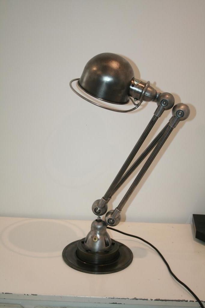 lampe industrielle charbon 3 bras par jean louis domecq pour jield france 1951 en vente sur. Black Bedroom Furniture Sets. Home Design Ideas