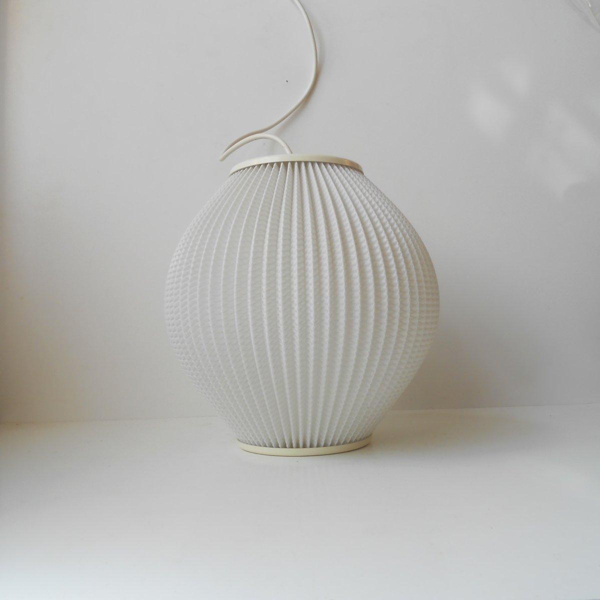 Weiße Bienenstock Lampe aus Acryl von Svend Aage Holm-Sorensen, 1950er