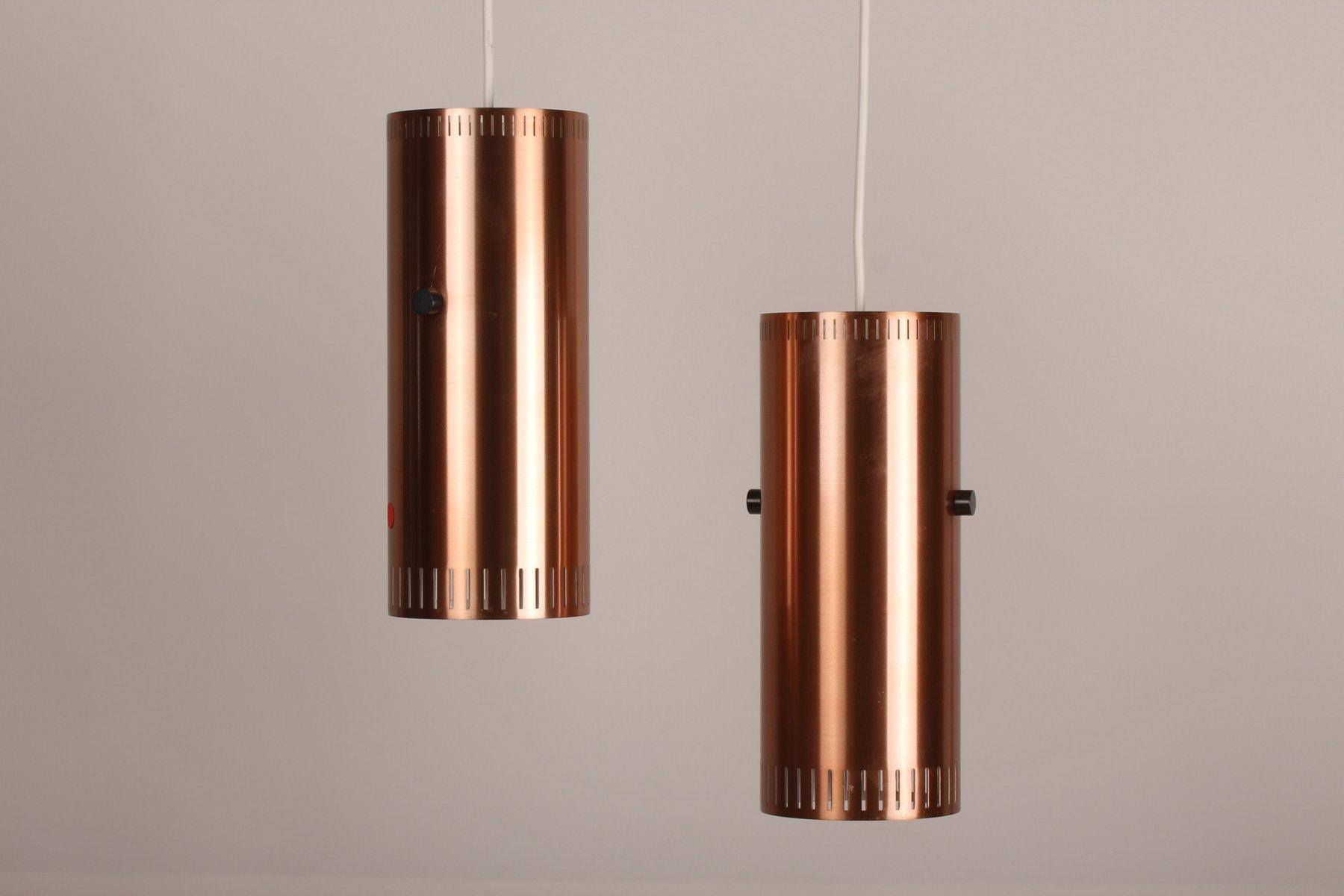 Zylinderförmige Dänische Lampen von Jo Hammerborg für Fog & Mørup, 196...