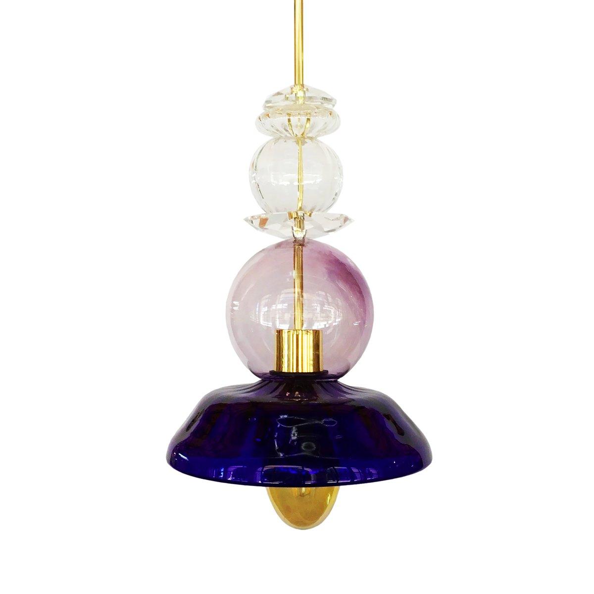 Oneoff 2 Lampe von Gala Fernández für Real Fábrica de Cristales de La ...
