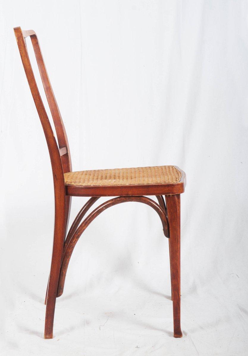 Antike Jugendstil Thonet Stühle Aus Buche & Schilfrohr Von