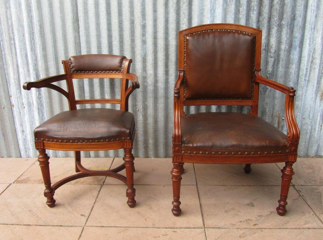 englische arts crafts his hers armlehnst hle 1880er. Black Bedroom Furniture Sets. Home Design Ideas