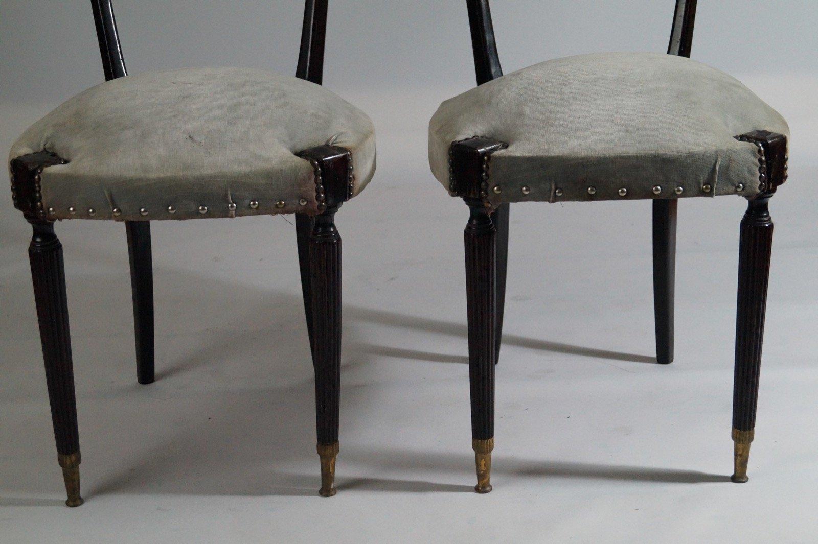 moderne schwarze st hle mit hohen r ckenlehnen von paolo buffa 1950er 2er set bei pamono kaufen. Black Bedroom Furniture Sets. Home Design Ideas