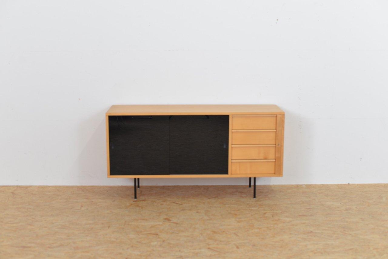 Birkenholz Sideboard mit Glastüren, 1960er