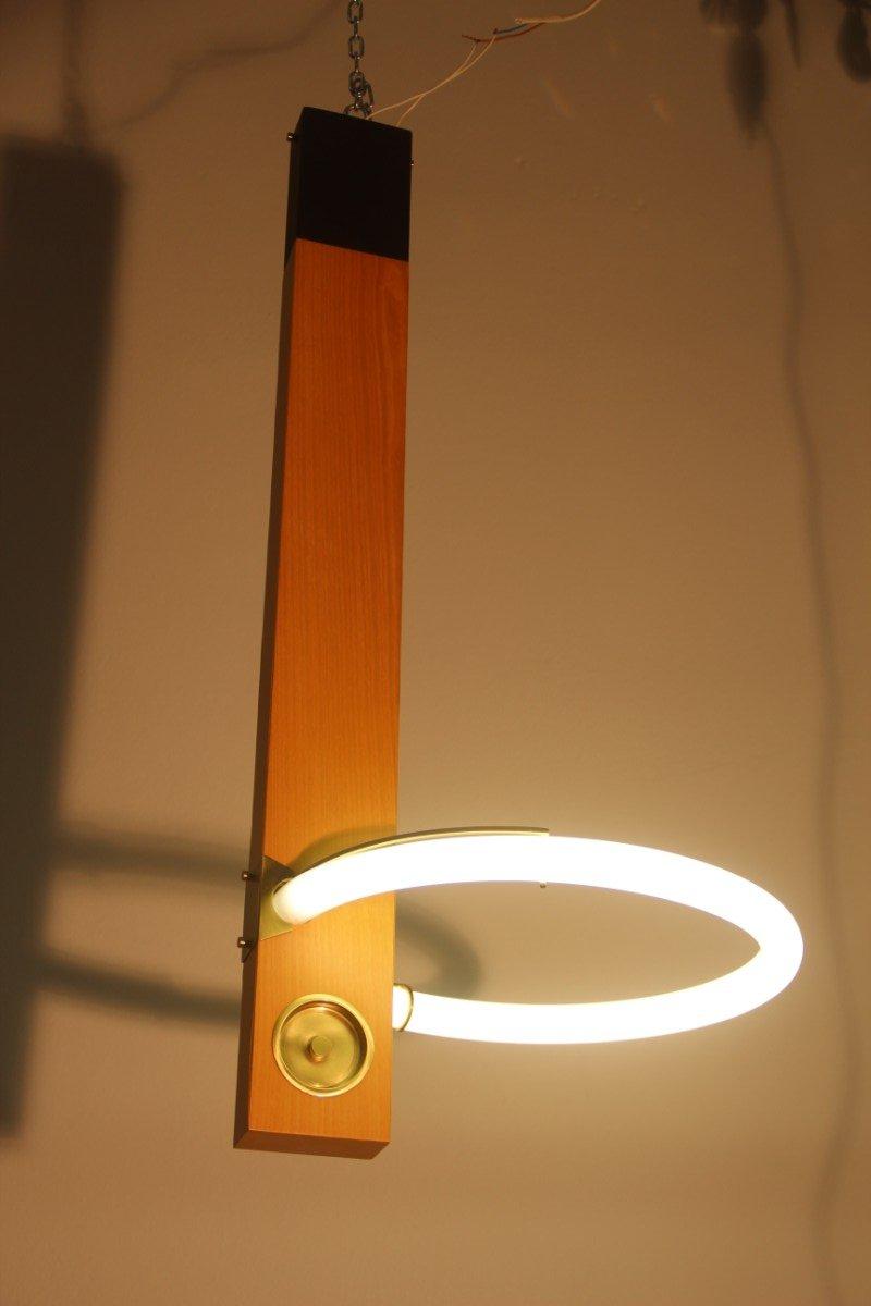 Minimalistische Italienische Neon Lampe, 1980