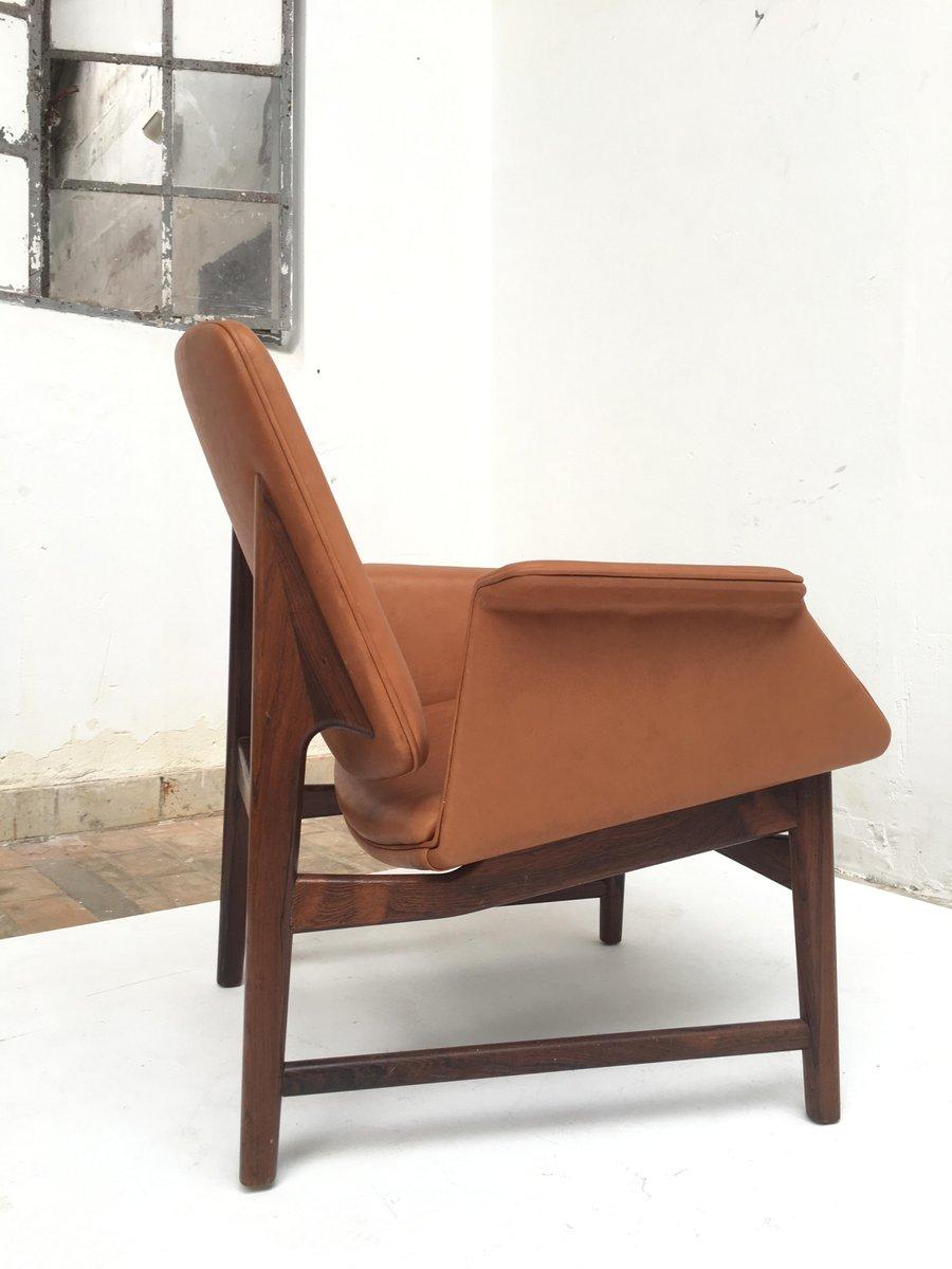 d nischer sessel aus palisander leder von hans olsen 1950er bei pamono kaufen. Black Bedroom Furniture Sets. Home Design Ideas