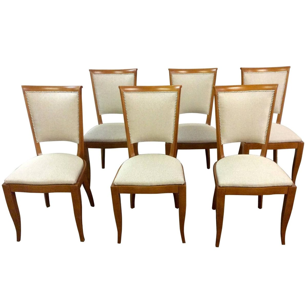 Art deco french dining chairs 1930s set of 6