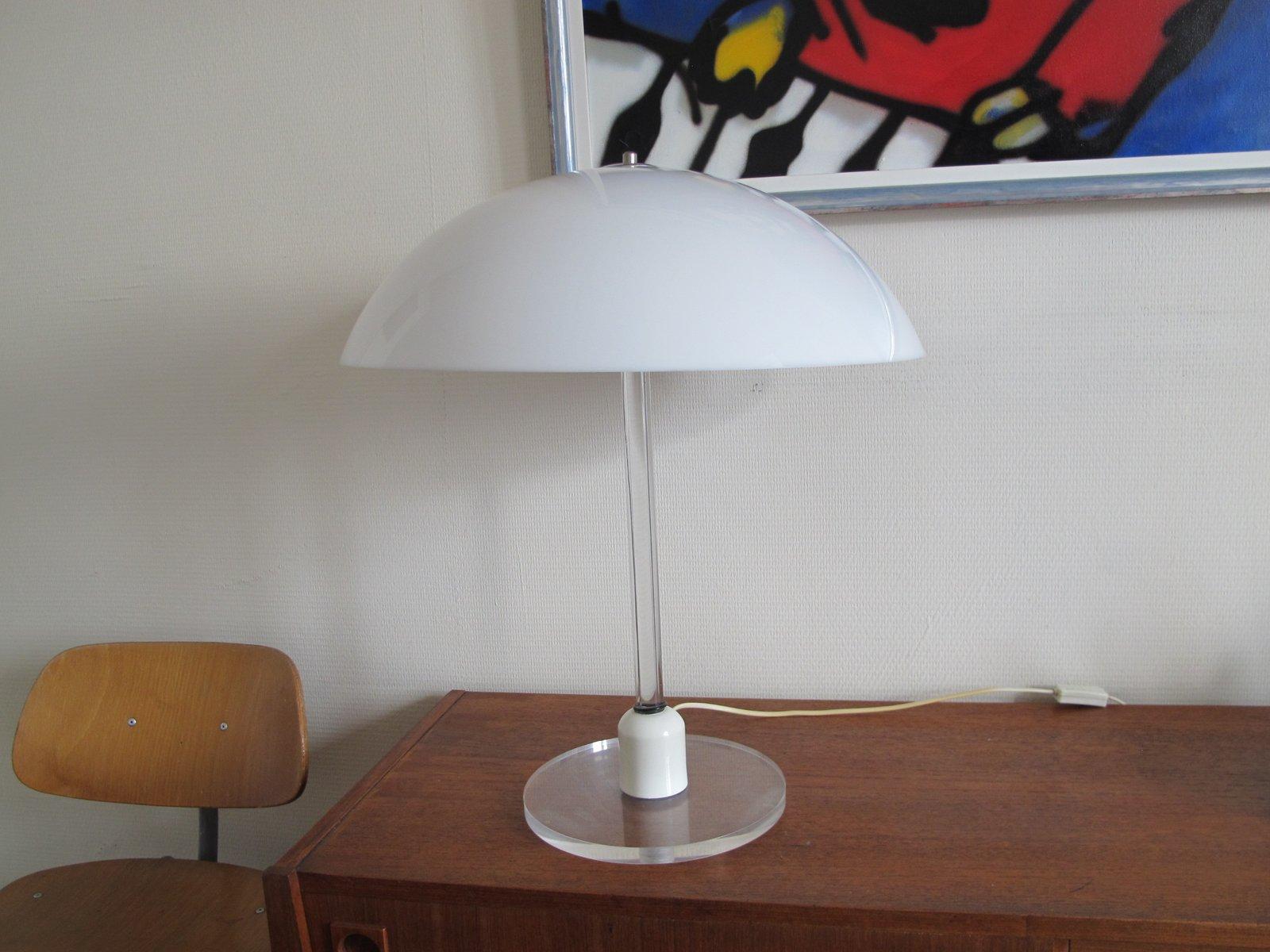 Vintage Plexiglas Tischlampe von Harco Loor