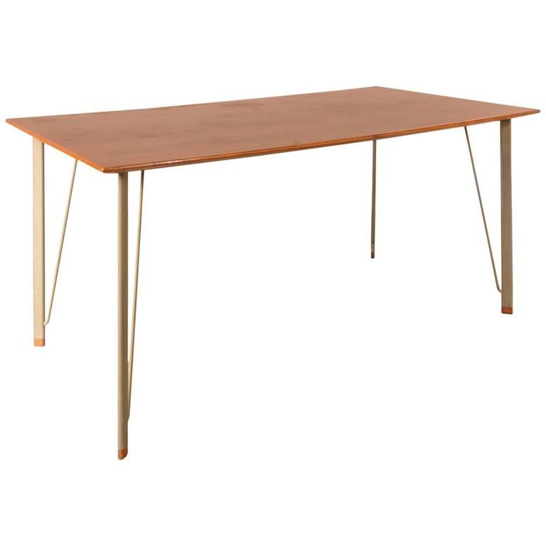 Danish Dining Table By Arne Jacobsen For Fritz Hansen 1950s For