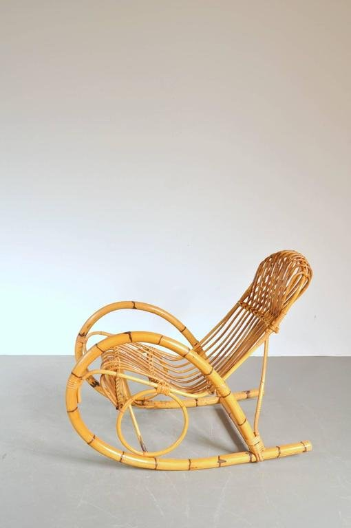 Italian Rattan Rocking Chair, 1950s 9. $2,151.00. Price Per Piece
