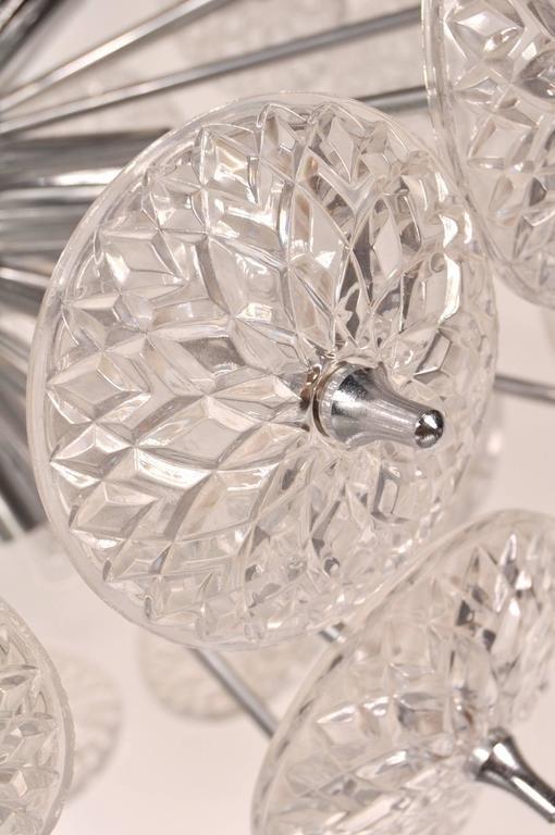 belgischer glas chrom sputnik kronleuchter 1970er bei pamono kaufen. Black Bedroom Furniture Sets. Home Design Ideas