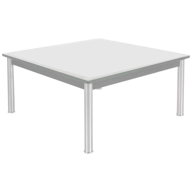 table basse lc10 par le corbusier pour cassina italie 1980s